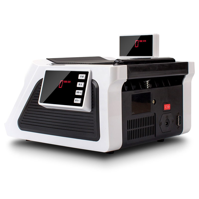 得力2170 锂电池银行用全智能语音报警点钞机验钞机便携