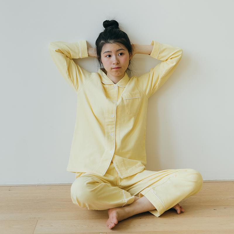 【八月格桑】纯棉绒布磨毛睡衣秋衣