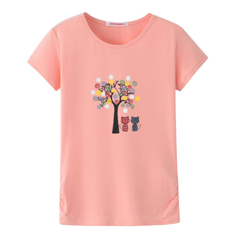 新款小衫 2018 岁中老年人女装大码上衣 50 40 恤纯棉 t 妈妈装夏装短袖