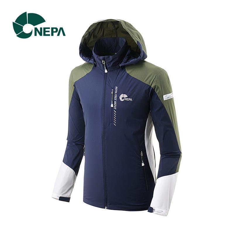 NEPA耐葩 男士戶外運動夾克透氣舒適修身面板風衣7C30600