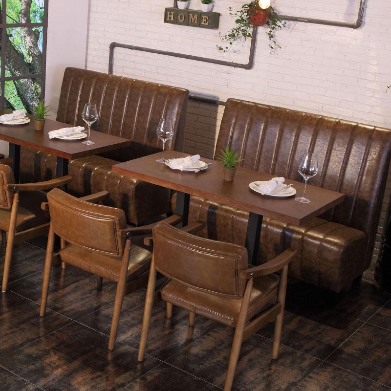 酒吧沙发卡座 包厢软包实木咖啡厅U型音乐餐吧工业风 KTV沙发定制
