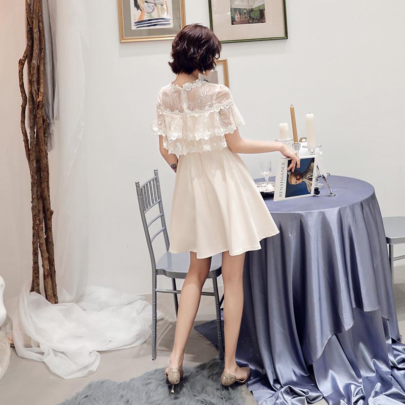 晚礼服女2019新款显瘦洋装小礼服短款伴娘气质名媛聚会生日连衣裙
