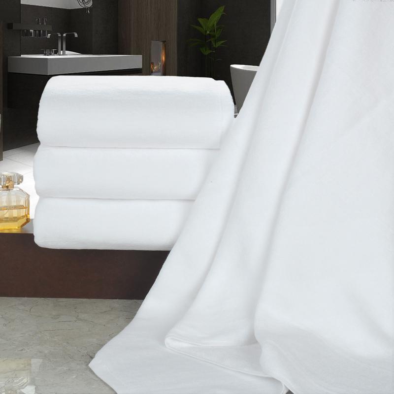 绿竹坊白色浴巾加厚纯棉宾馆酒店汗蒸美容院专用铺床巾棉足疗洗浴