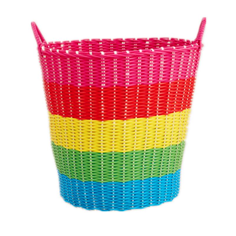 脏衣篮脏衣服收纳筐篮粗管塑料藤编脏衣篓洗衣篮玩具收纳篮箱编织