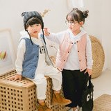 New children's autumn and winter vest baby spring and autumn female baby inside and outside wearing thin section cotton men's children's down cotton vest