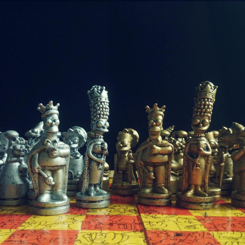 国际象棋辛普森西洋棋西洋跳棋个性卡通国际象棋儿童智力游戏特价