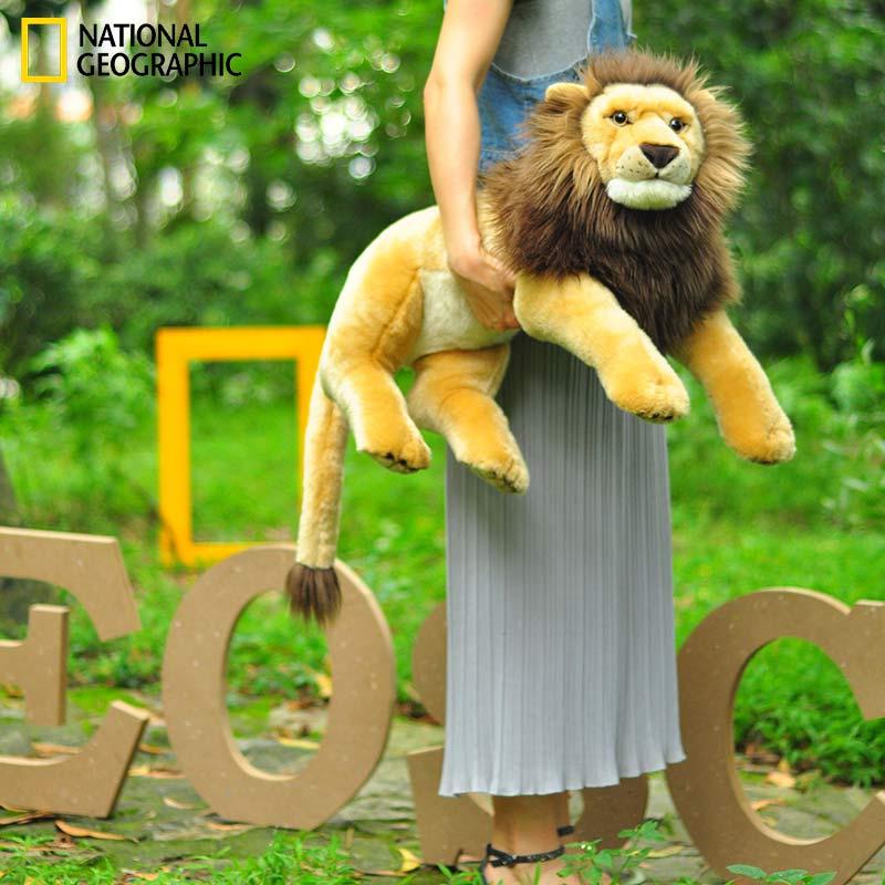 狮子王 毛绒公仔仿真大玩偶 英寸 22 国家地理 Geographic National