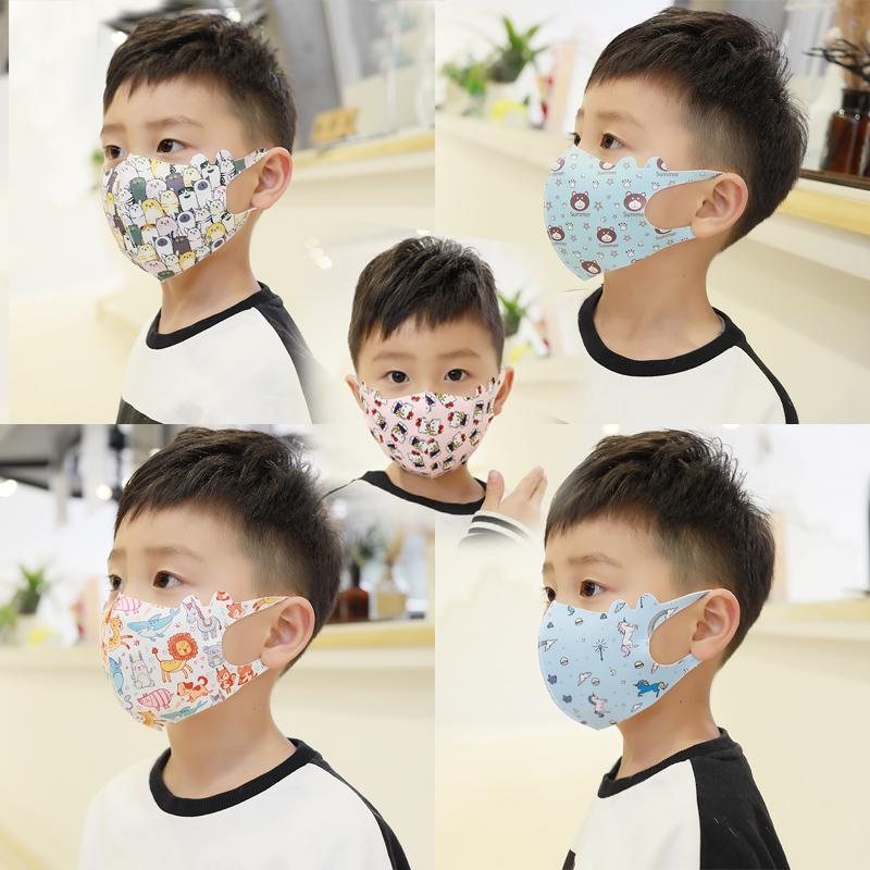 兒童口罩夏天單獨包裝小孩防塵專用卡通薄款透氣3d布口鼻罩可洗