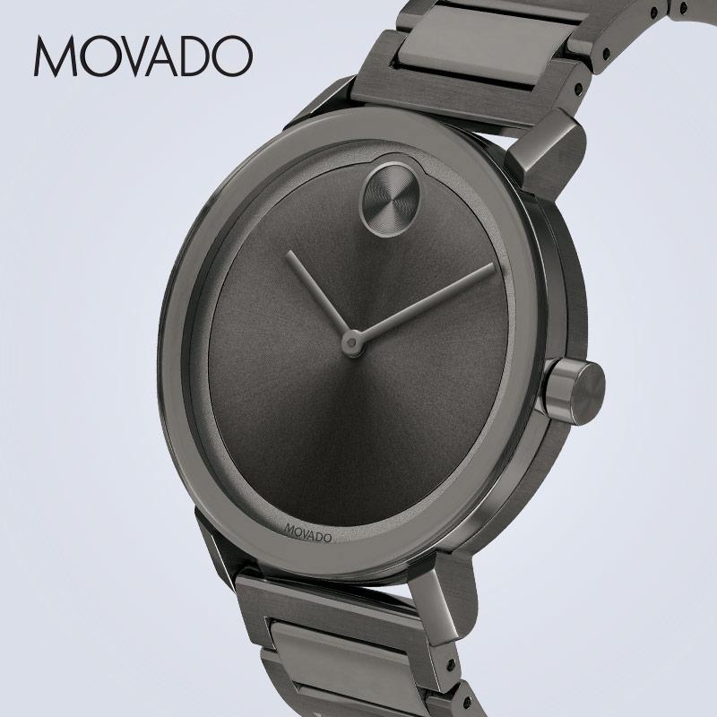 Movado/摩凡陀BOLD系列商务休闲瑞士石英钢带手表男表经典