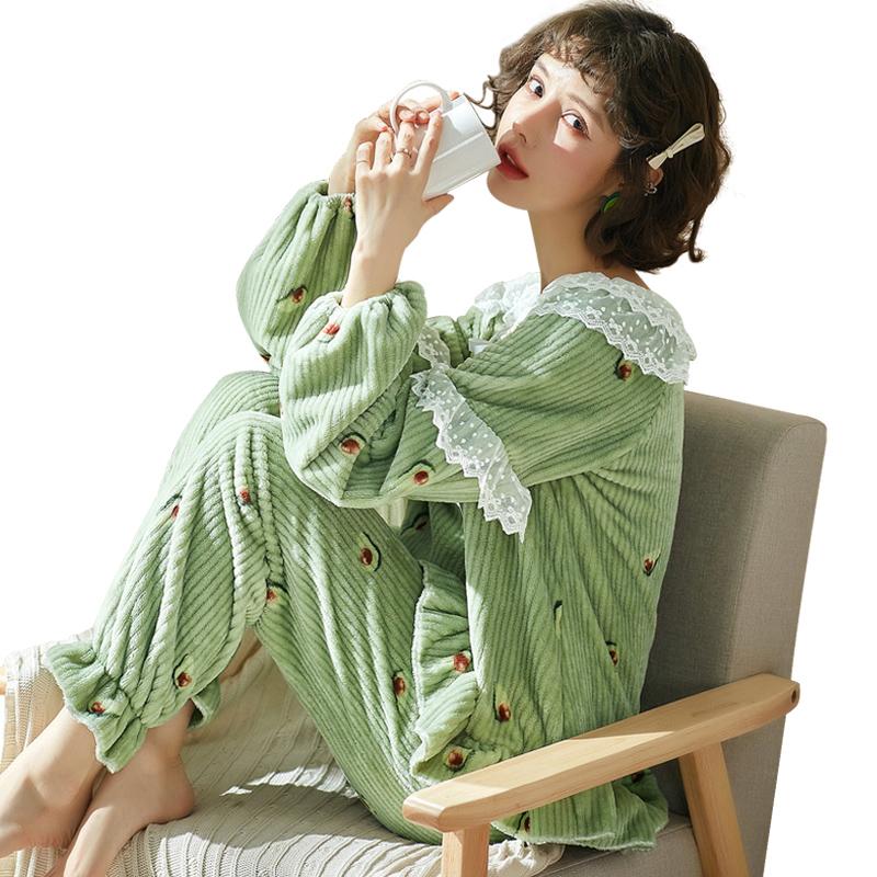 【珊瑚绒加厚】甜美家居服睡衣套装