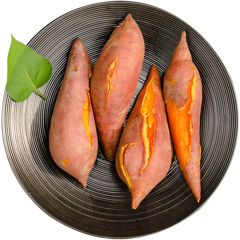 【精挑5斤】第2件10元无丝红薯新鲜番薯六鳌地瓜甜心蜜汁薯山芋