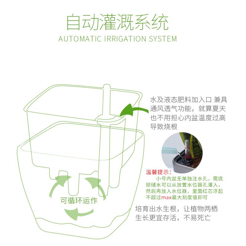 方圆形绿萝箩多肉肉绿植物懒人花盆特大口径小号自动吸水塑料花盆