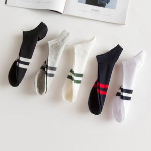 袜子男士短袜船袜中筒长潮袜春夏纯棉隐形浅口全棉防臭吸汗批发薄