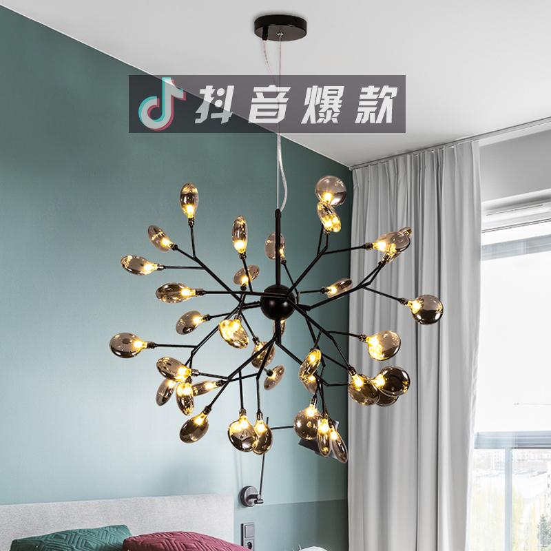 北欧萤火虫网红餐厅吊灯现代简约艺术创意个性枝形客厅卧室吊灯具
