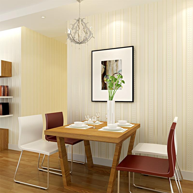 现代简约无纺布墙纸客厅餐厅过道欧式壁纸浮雕卧室背景墙3D竖条纹