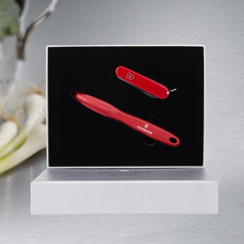 维氏瑞士军刀削皮器二件套礼盒套装瑞士军士刀配件