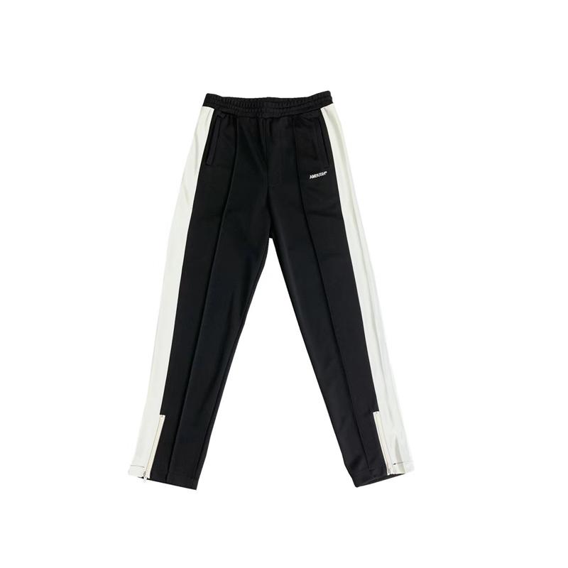 休闲账动裤男高街 字母刺绣黑白简约拼色长裤 春夏新款 AMBUSH19SS