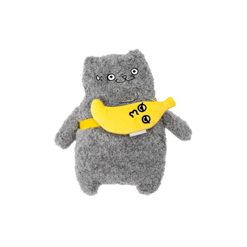 猫咪抱香蕉创意毛公仔玩偶 DOLL 周柏豪 CATXMAN
