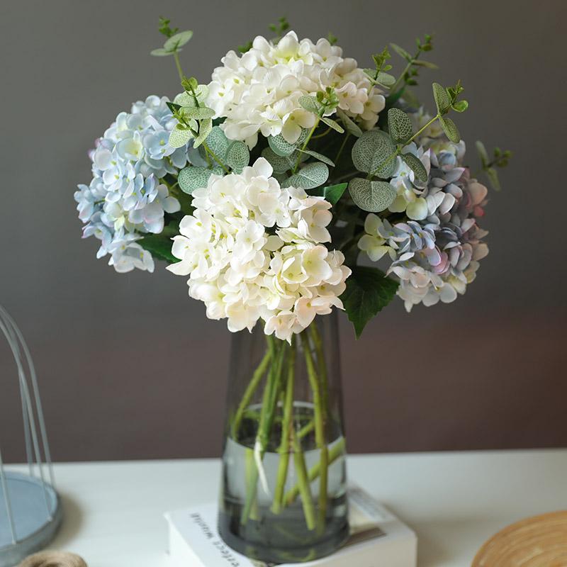 仿真花绣球花假花干花婚庆花瓶摆件客厅插花茶几餐桌装饰家居摆件