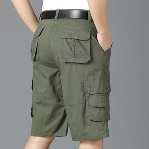 夏季新款五分裤男式短裤宽松直筒休闲运动工装裤中裤子马裤沙滩裤