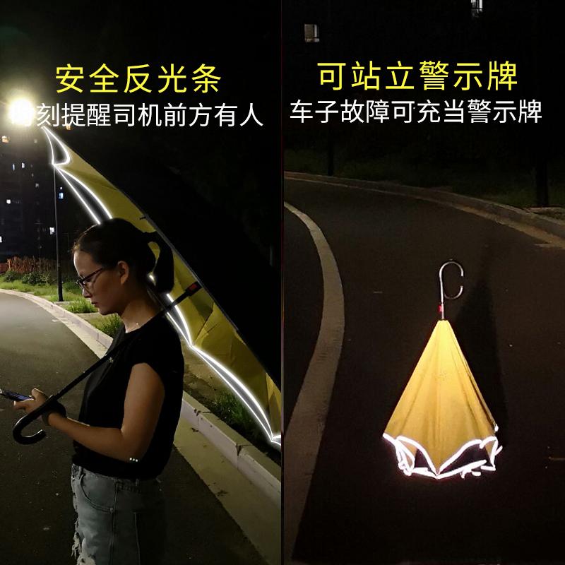 全自动开收雨伞女双层免持式大号长柄伞男晴雨两用折叠汽车反向伞