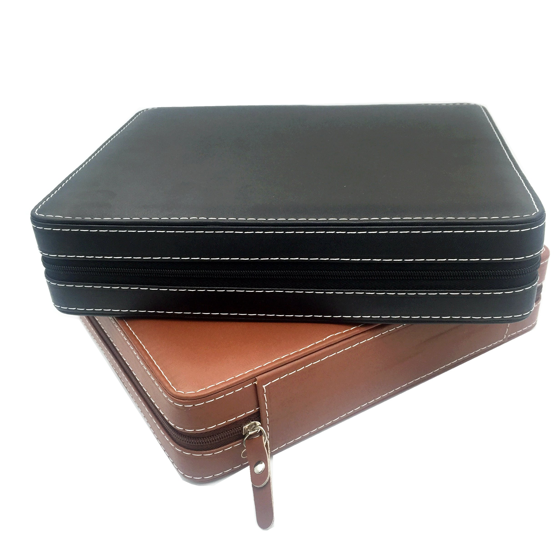 60只小圆盒裸石盒圆形宝石拉链包裸钻戒面展示盒子收纳首饰箱