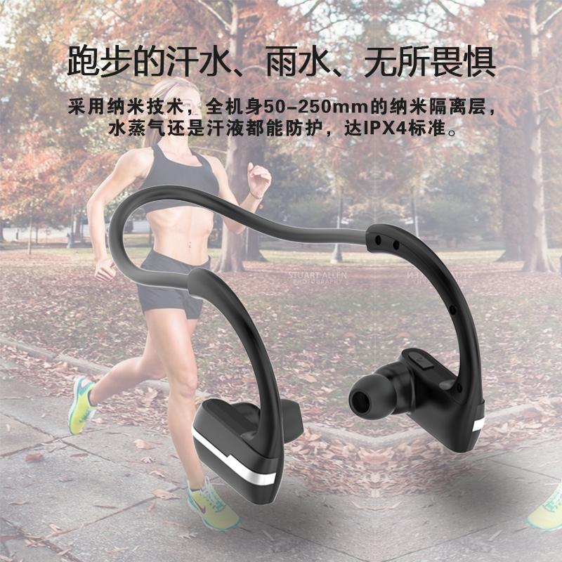 苹果运动无线蓝牙耳机跑步挂耳式健身头戴迷你脑后式华为OPPO通用
