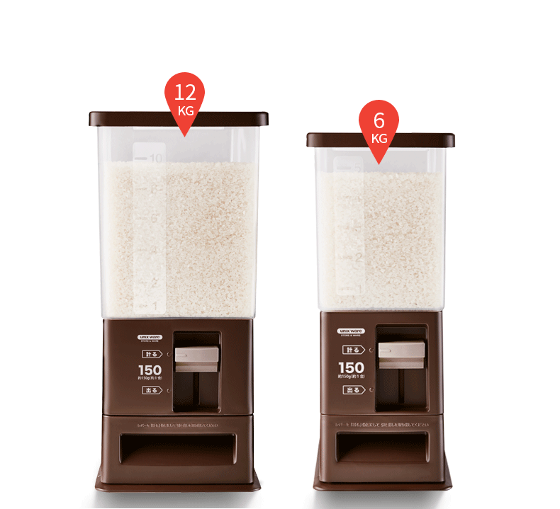 日本Asvel防虫米桶密封防潮储米箱20斤家用 自动计量出米大米米箱