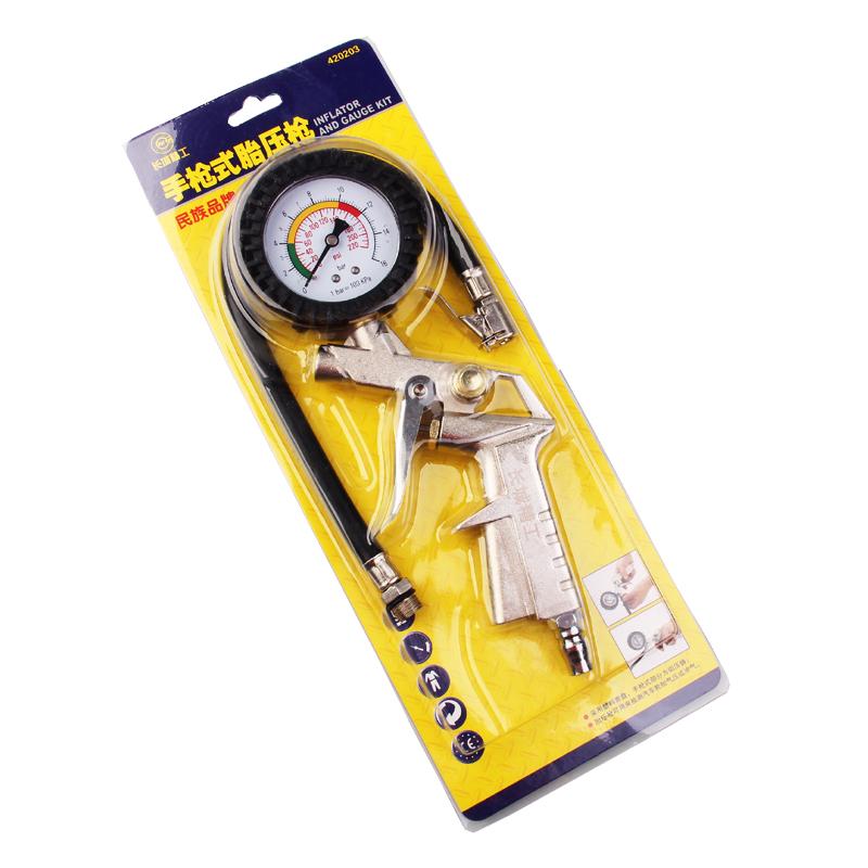 长城精工汽车轮胎加汽工具胎压表充气头打气摩托车轮胎气压表气嘴