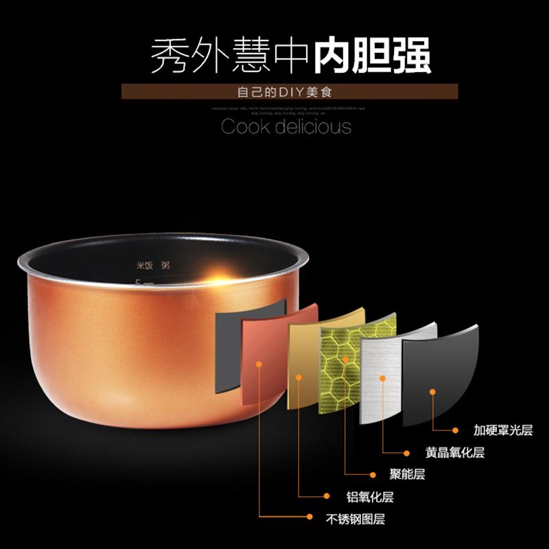 美的迷你电压力锅家用2.5升迷你高压饭煲智能全自动1特价3小型4人