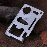 Multi-function universal tool card outdoor indoor portable mini stainless steel survival knife piece screwdriver Opener