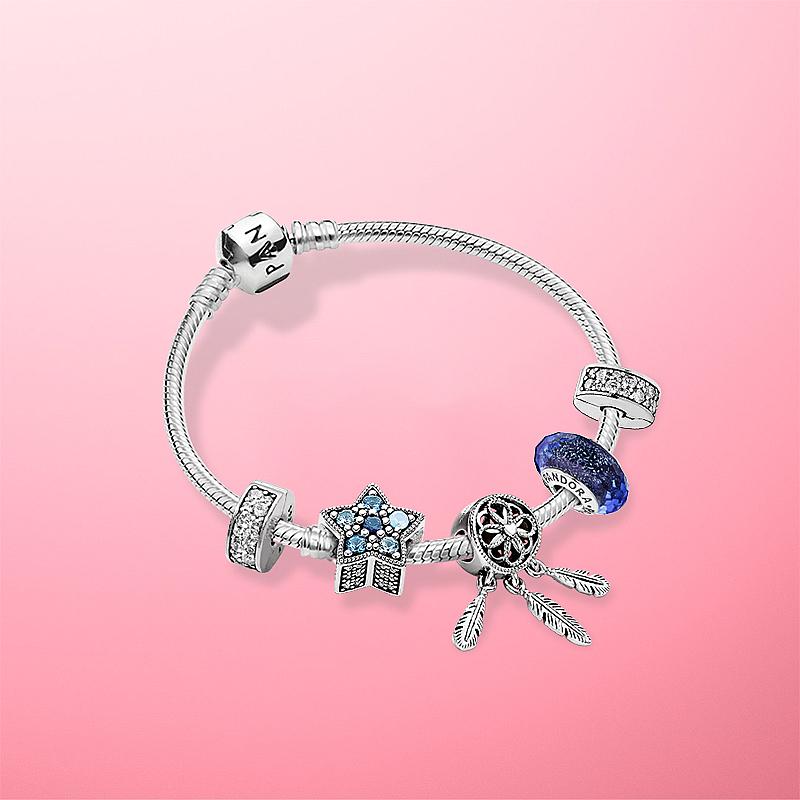 手链套装 ZT0554 银 925 潘多拉官网星愿闪耀 Pandora 李佳琦推荐