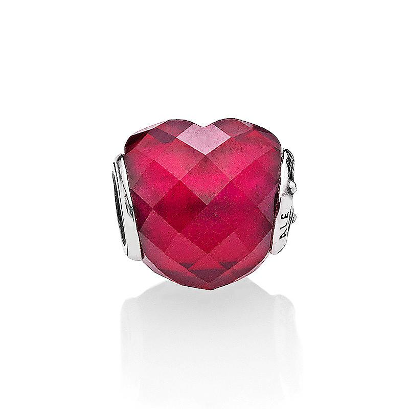 手链装饰女 796563NFR 银串饰 925 潘多拉紫红色爱心 Pandora