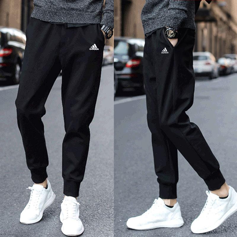 Adidas阿迪达斯裤子男夏季运动裤宽松男裤薄款休闲长裤收口小脚裤