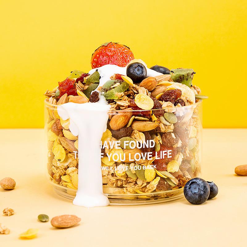益衡烘焙坚果水果燕麦片混合装干吃麦片即食谷物早餐低代餐食品脂