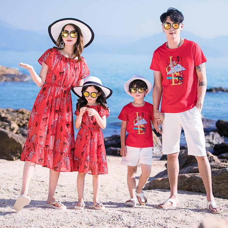 巴厘岛沙滩裙女海边度假套装情侣装闺蜜夏装三亚旅行显瘦连衣裙子