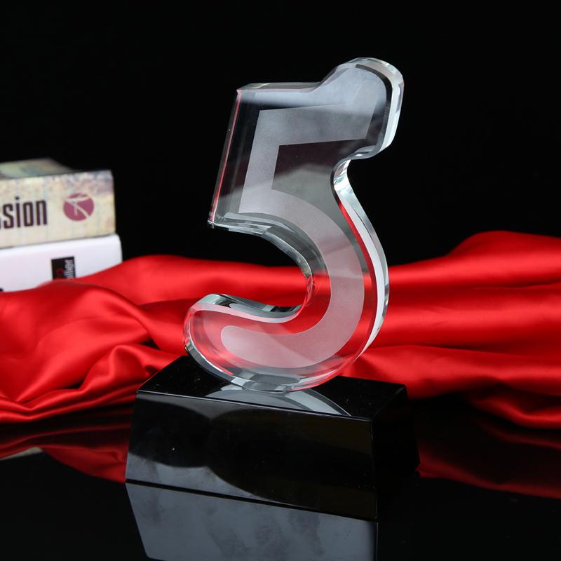 周年 5 水晶定制奖杯刻字企业奖品纪念品现货基本系列 YUXIN 雨欣