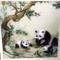 御针坊手工刺绣梅花熊猫苏绣成品单面绣中国特色出国送老外礼品