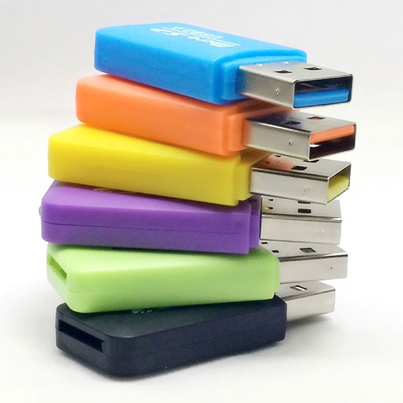 批发冰爽USB相机读卡器2.0高速手机音响micro SD读卡器TF卡迷你包
