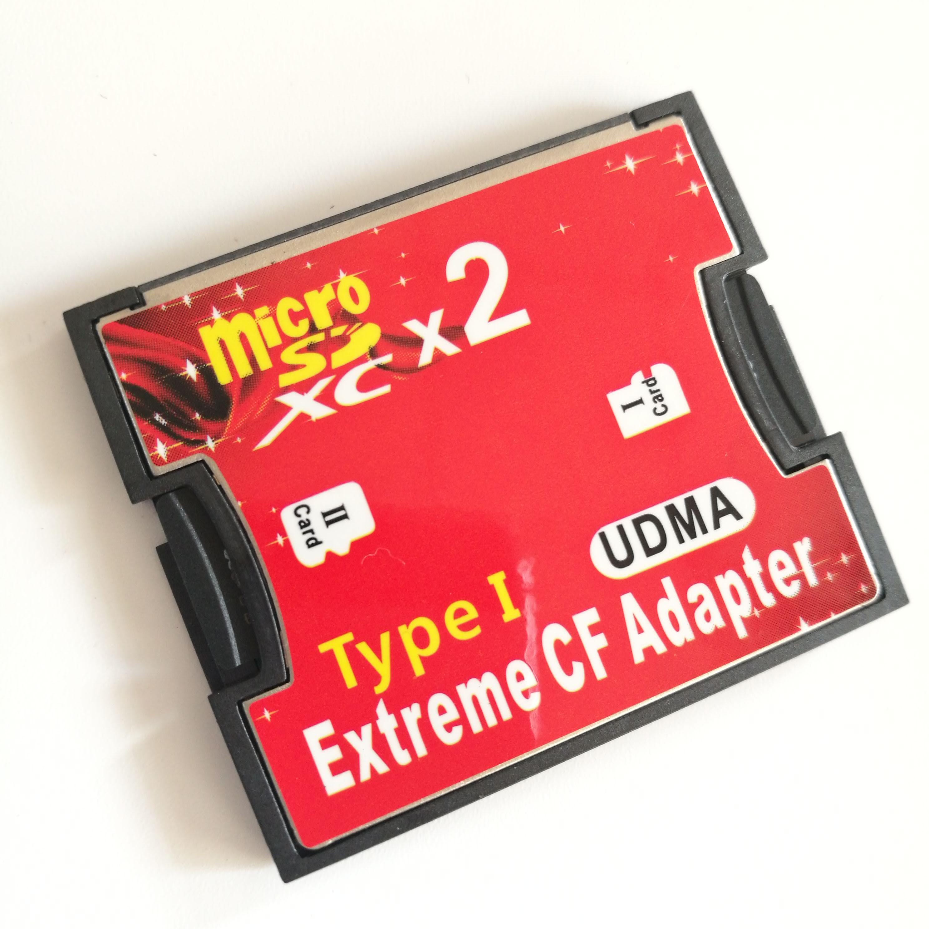 原裝 micro sd轉CF 卡套 雙TF轉CF卡套 支援SDXC 2TB 高速轉接卡