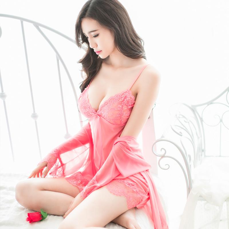 性感睡衣女春秋季吊带睡裙情趣透明蕾丝夏薄款大码冰丝挑逗诱惑骚