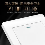International electrician household 86 type information dual network cable computer two broadband cable dual port white panel socket
