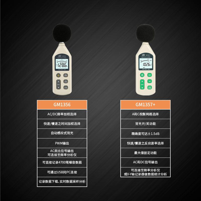 标智GM1356分贝仪 高精度噪音计声级计环境噪声测试仪噪音检试仪