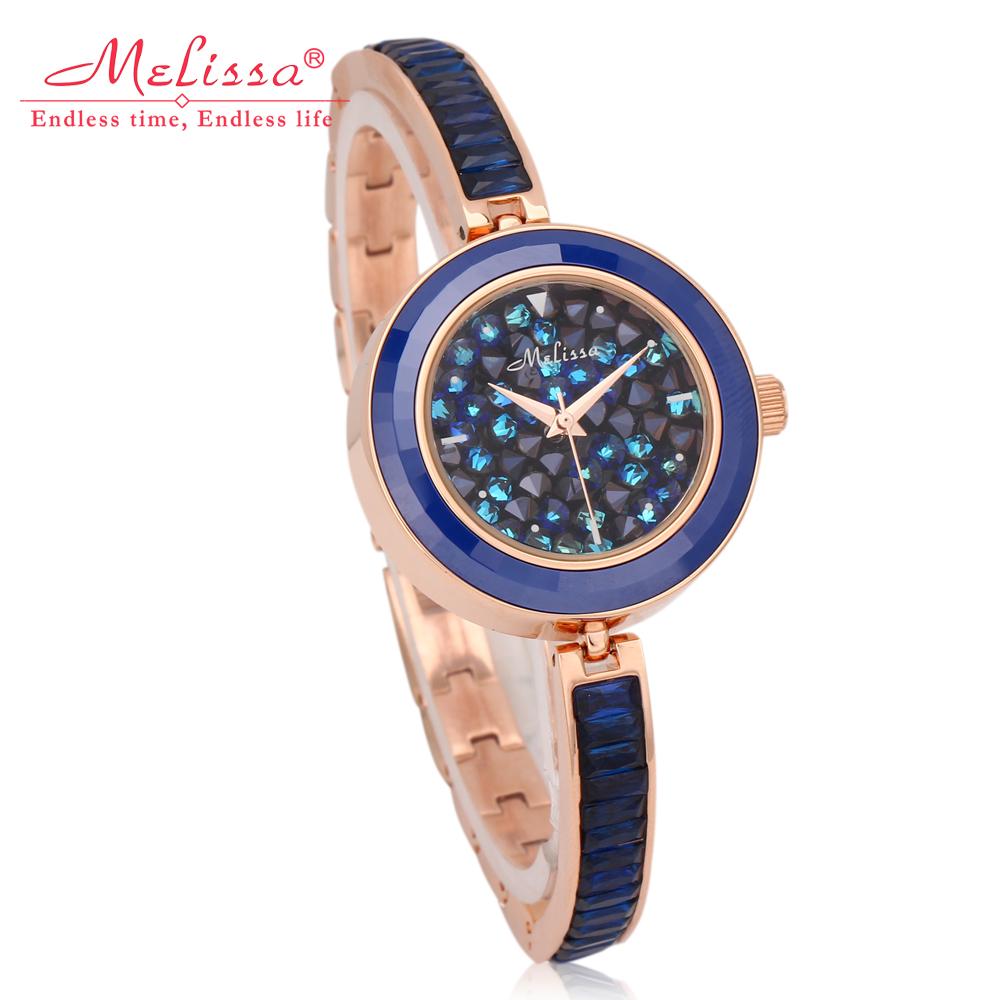玛丽莎正品水晶石英女表精致时尚韩国潮流镶钻秀气装饰表学生手表