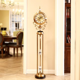 Luxury European style floor clock American-style living room mute creative atmosphere big clock villa decoration decorative clock