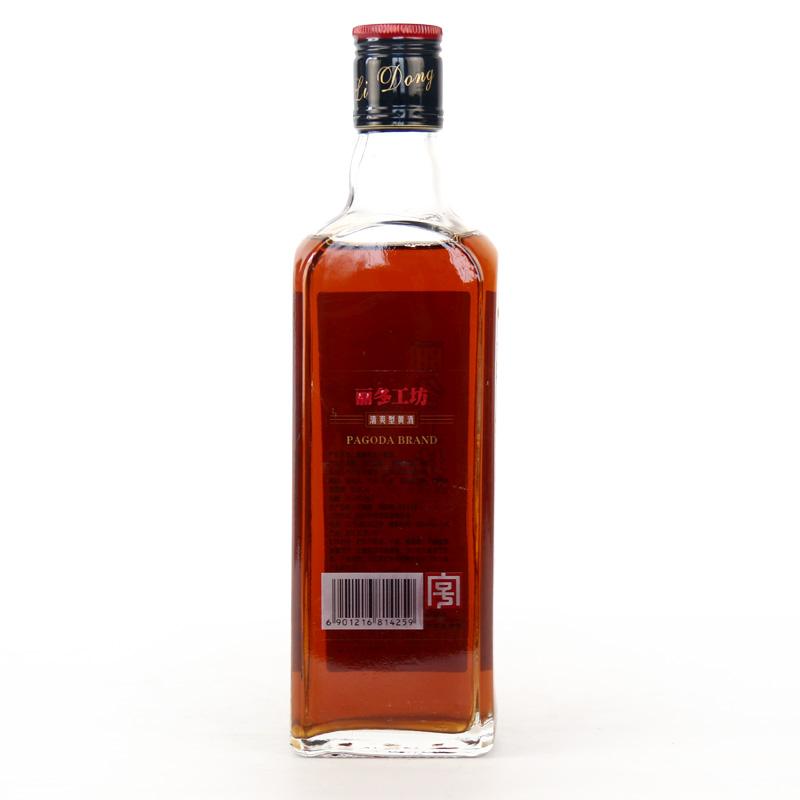 花雕 单瓶老酒 375ml 塔牌丽冬工坊手工佳酿糯米酒 绍兴黄酒