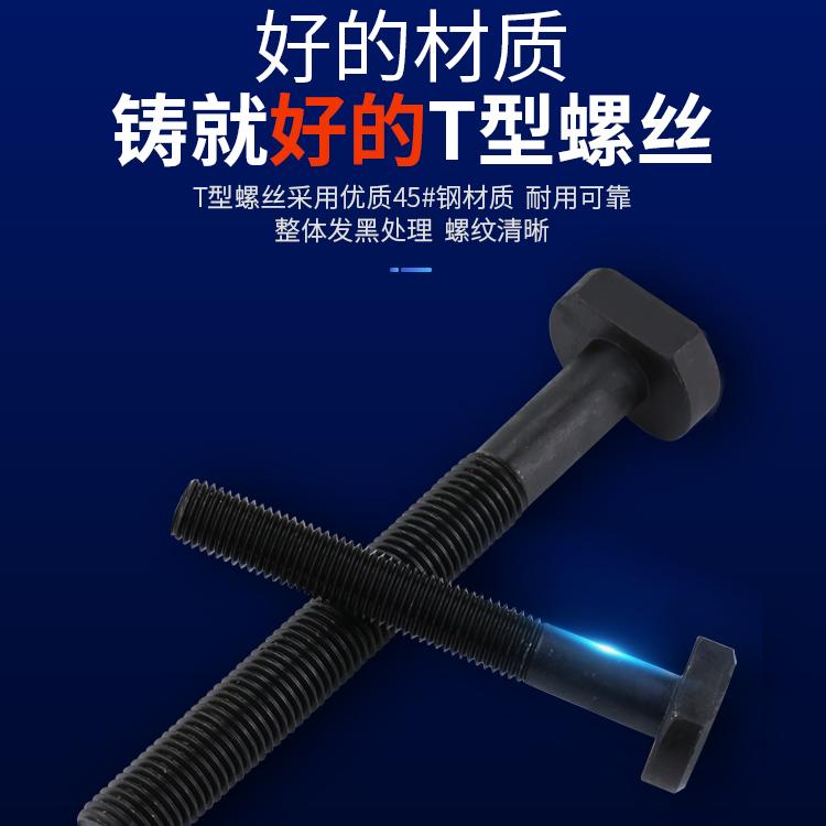 45#钢T型螺丝/冲床铣床螺杆/螺栓T形模具压板螺丝M10M12M16M20M24