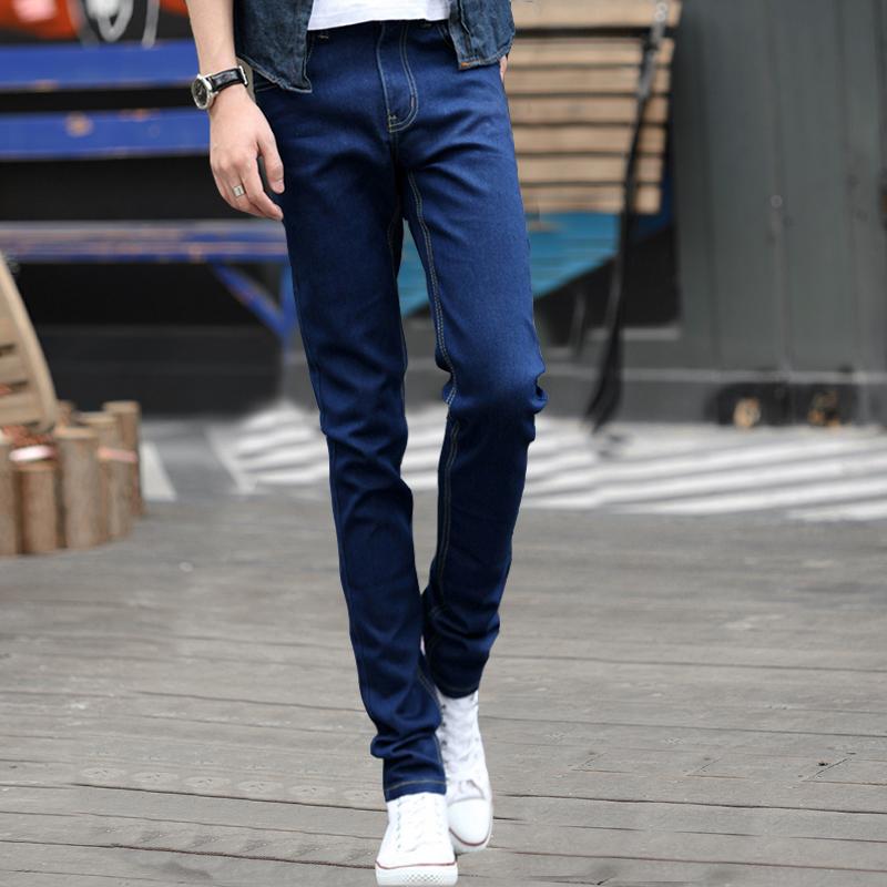 牛仔裤男士夏季薄款2021年新款修身小脚裤长裤子男潮牌潮流休闲裤主图