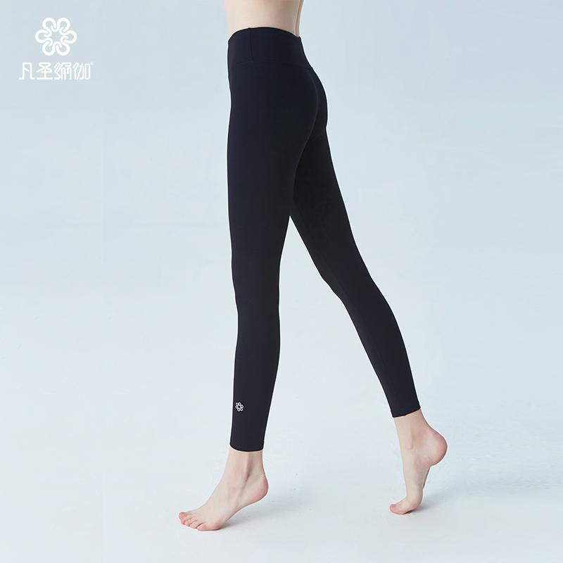 凡圣瑜伽服女春夏基础款瑜珈裤紧身弹力健身裤运动瑜伽长裤F05908