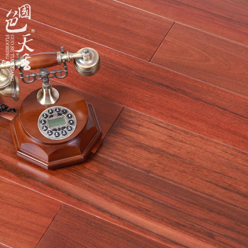 七彩重蚁木原木纯实木素地板木蜡油浅色卧室实木地板厂家直销特价